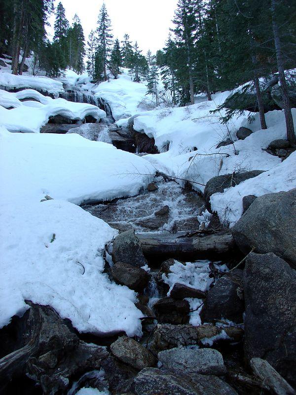 Lone Pine Creek waterfall.