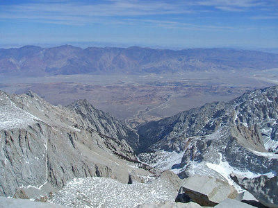 Looking down the Mountaineer's Route.