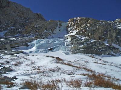 Blue ice below Barney Lake.