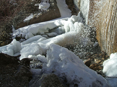 The bizarre ice formation is starting to melt away.