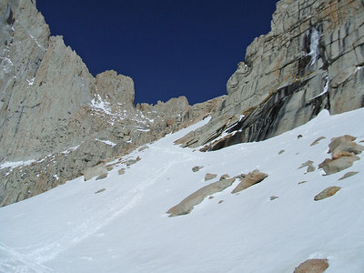 The path up to Iceberg Lake.