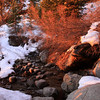 Beautiful morning glow at the North Fork of Lone Pine Creek crossing.