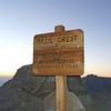 Trail Crest 5:25am.