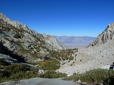 Lower Boy Scout Lake from the slabs below Clyde Meadow.