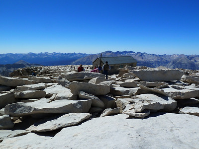 "Mt. Whitney summit view ""west."""