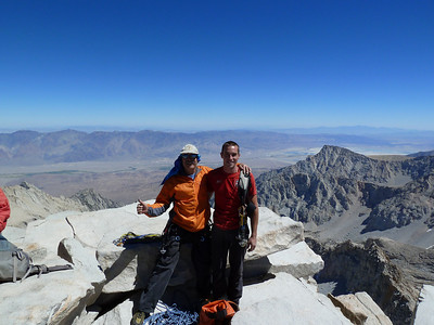 Big smiles after finishing the East Face of Mt. Whitney.