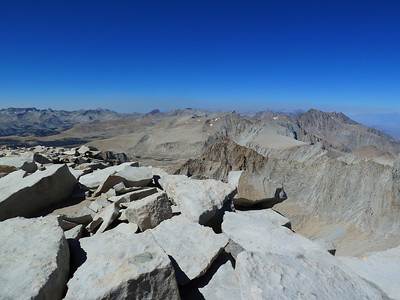"Mt. Whitney summit view ""north."""