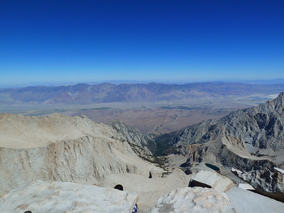 "Mt. Whitney summit view ""east."""