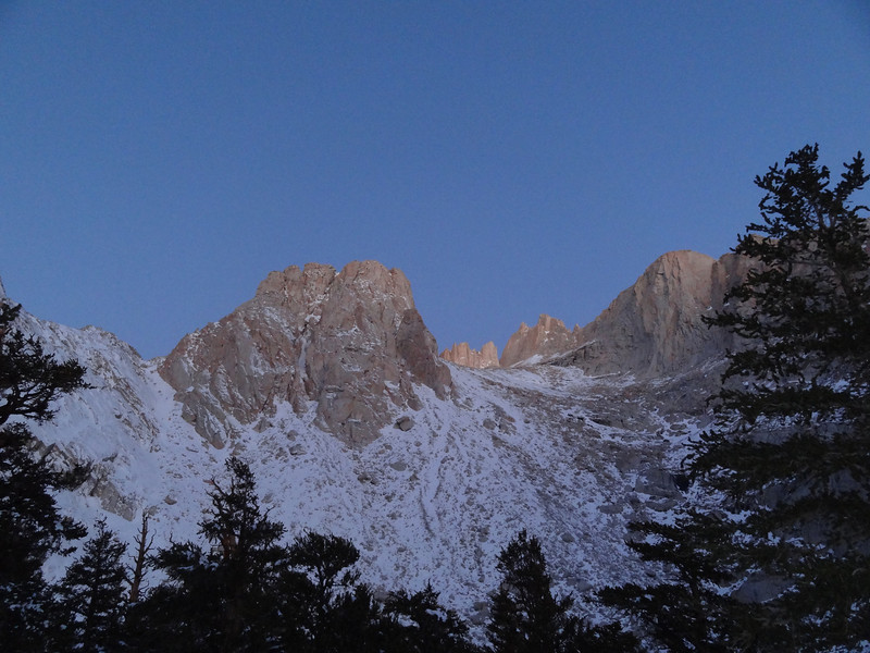 Wotans Throne and some of the Sierra crest at dawn.