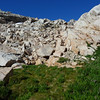 A little bit of boulder hopping to get to Meysan Lake.