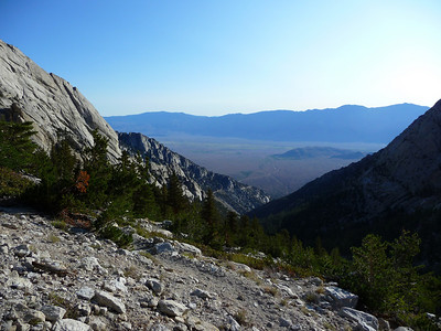 The view down to the Owens Valley from the Meysan Lakes Trail.