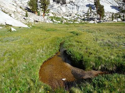 Stream across the meadow.