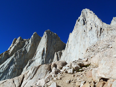 Mt. Whitney and the Needles from the buttress approach.
