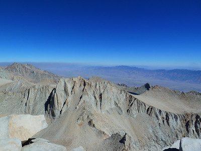 Mt. Whitney summit view.  Mt. Russell.