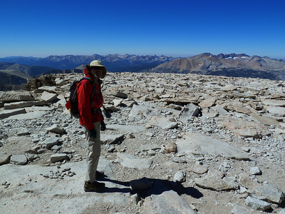 Bob heading off for Mt. Marsh.  A heck of a long traverse across the Sierra crest.