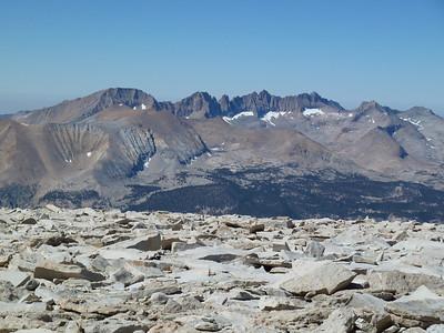 "Mt. Whitney summit view.  ""West."""