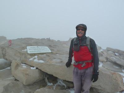 Mt. Whitney summit portrait.