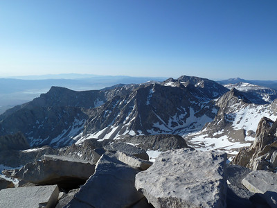 "Mt. Whitney summit view.  ""South."""