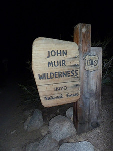 Entering the John Muir Wilderness.