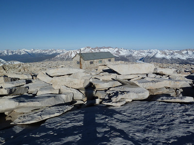"Mt. Whitney summit view.  ""West."""