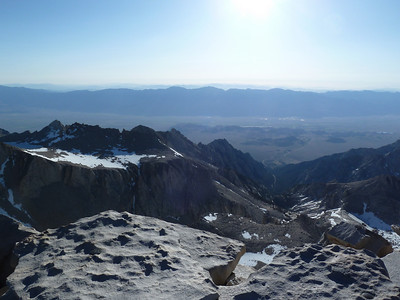 "Mt. Whitney summit view.  ""East."""