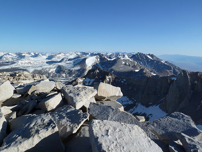 "Mt. Whitney summit view.  ""North."""