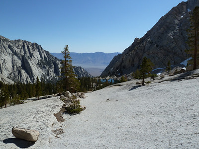 The slab shortcut above Lone Pine Lake.