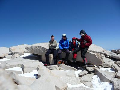 Rick Kent, Mike, Corina, Me on the summit of Mt. Whitney.