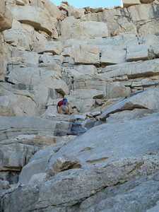 Climber on the Final 400'.