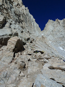 Looking up towards The Notch.