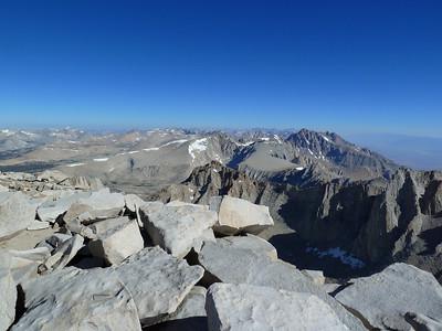 "Mt. Whitney summit view ""north."""