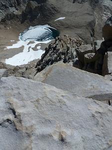 Mt. Whitney summit view.  Iceberg Lake.