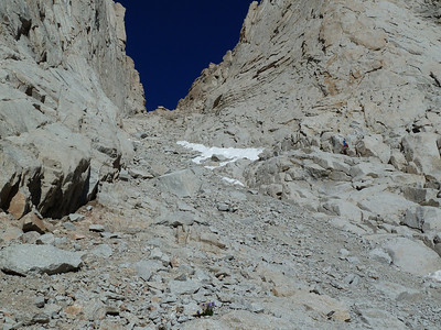 Climber on the right side of the Couloir.