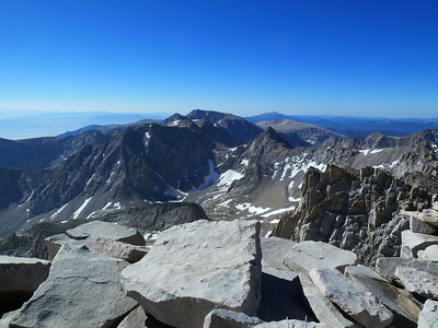 """Mt. Whitney summit view """"south."""""""