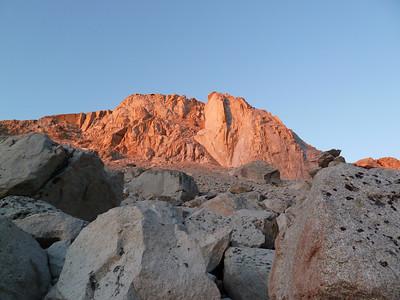 Alpinglow on Thor Peak.