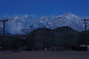 Pre-dawn photo of Mt. Langley and Lone Pine Peak.