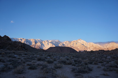 The Sierra crest from Whitney Portal Road.
