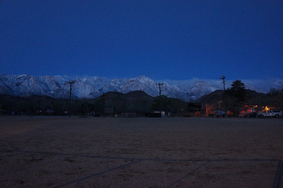 Pre-dawn photo of the Sierra crest.