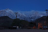 Pre-dawn photo of Lone Pine Peak and Mt. Whitney.