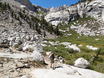 Arthur heading up for Upper Boy Scout Lake.