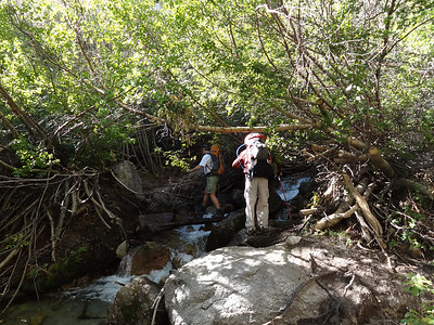 Arthur and Jeff at the first stream crossing.