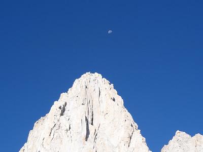 Moon over Mt. Whitney.