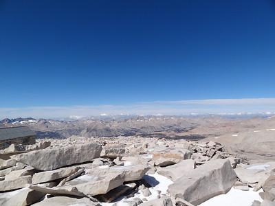 "Mt. Whitney summit view.  Towards the ""northwest."""