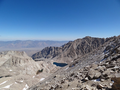 The view down from Trail Crest.  Not looking forward to 97 turns to get down there.