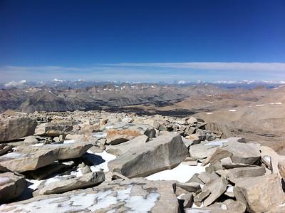 "iPhone photo.  Mt. Whitney summit view.  Toward the ""northwest."""