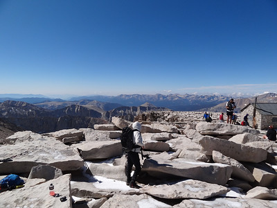 Mt. Whitney summit view.  Tracie.