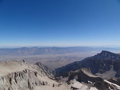 Mt. Whitney summit view.  Looking down the Mountaineer's Route.