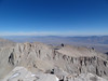 Mt. Whitney summit view.<br /> <br /> Mt. Russell and Carillon.