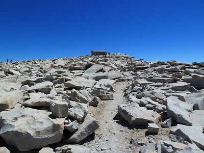 Heading down from the summit of Mt. Whitney.