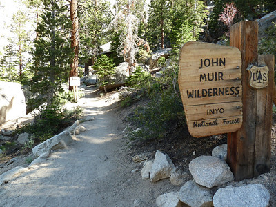Entering the John Muir Wilderness again.  4:52 pm.